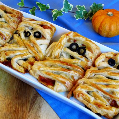 pumpkin pizza mummies
