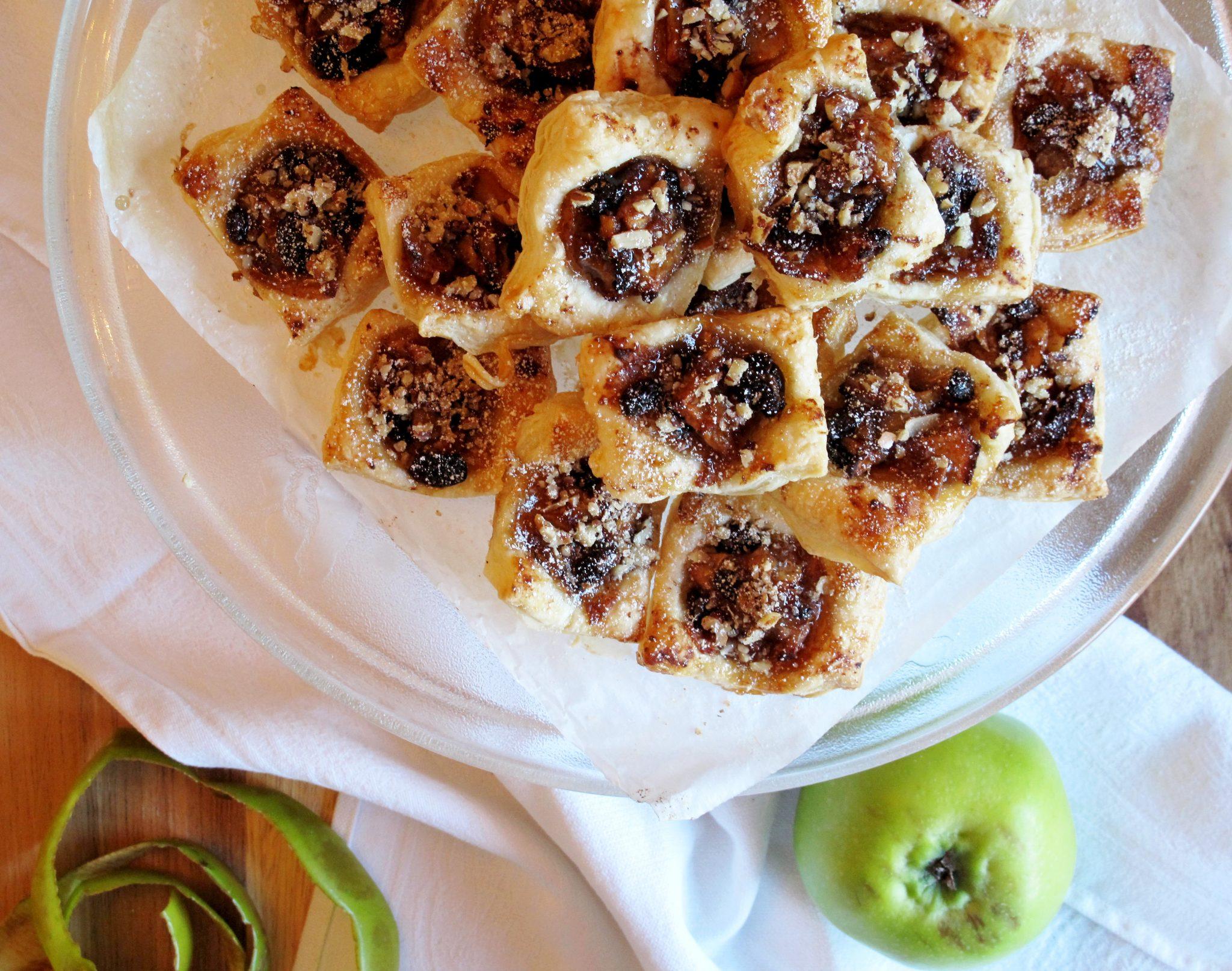 Vegan Cinnamon Apple Salted Caramel Pastries