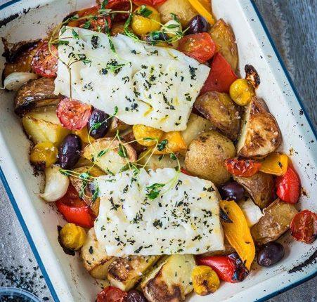 pescatarian roast dinner