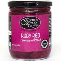 Ruby Red Raw Sauerkraut, Organic, 400g