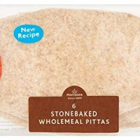 Morrisons 6 Stonebaked Wholemeal Pittas