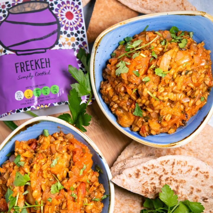 20-MINUTE Zaalouk Recipe with Smoked Eggplant, Tomato & Freekeh