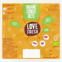 Love Fresh Organic Vac Pack Beetroot, 250 g