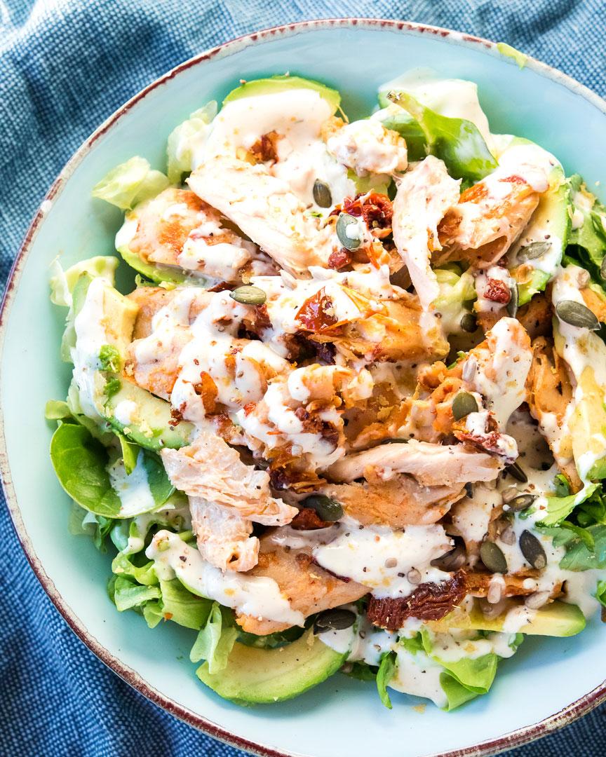 vegan-chicken-caesar-salad
